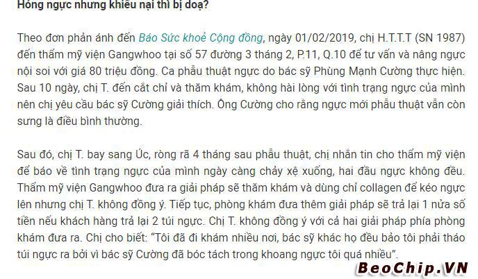 Đánh giá bệnh viện Gangwhoo có tốt hay không ? Sự tắc trách trong công tác thẩm mỹ ra sao ?