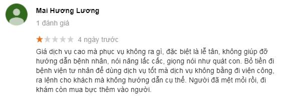 Comment khác từ khách hàng sau khi đến khám tại địa chỉ 152 Xã Đàn, Phương Liên, Đống Đa, Hà Nội